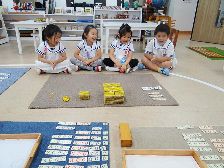 金色串珠集合遊戲(加法~給予孩子具體概念加法就是幾個小數量合成大數量